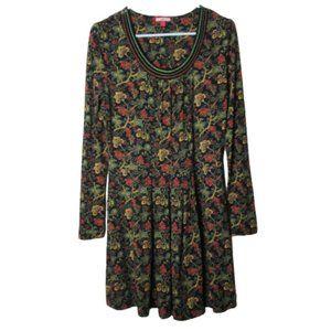 Joe Browns vintage print embroidered dress 8